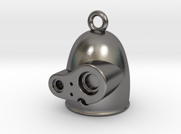 Laputian Sentry Head Earring (Single) in Polished Nickel Steel