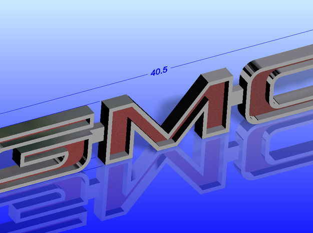 Tamiya Clodbuster Gmc Tailgate Emblem in Smoothest Fine Detail Plastic
