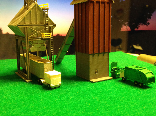 Wood Chip Loader Building 3d printed Woodchip Storage Building Z scale