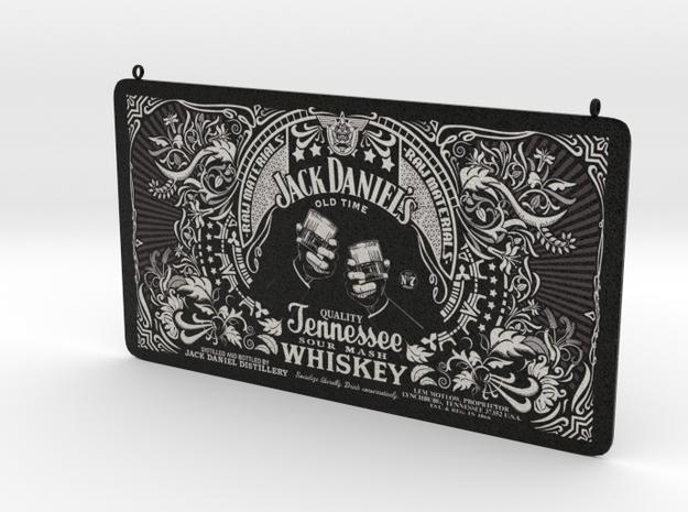 Jack Daniels Plaque in White Natural Versatile Plastic