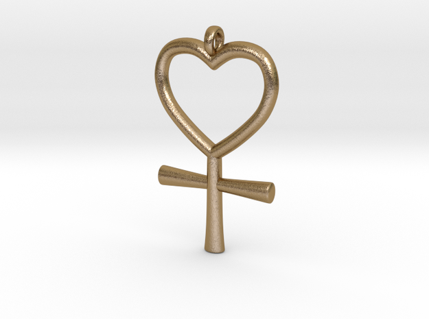 Venus Charm in Polished Gold Steel