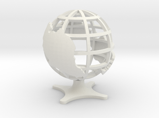 Globe of Malaysia in White Strong & Flexible