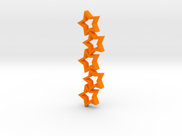 Stars in Orange Strong & Flexible Polished