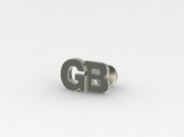 Monogram Cufflinks GB 3d printed