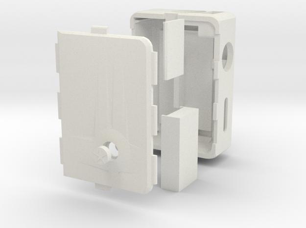 MARK V v3 + Cover push-button + DNA Case in White Strong & Flexible
