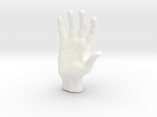 Man's hand in 5cm Passed in White Processed Versatile Plastic