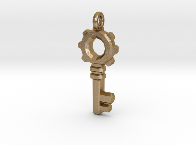 Small Key in Polished Gold Steel