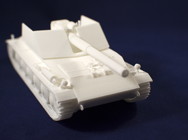 1:48 Rhm.-Borsig Waffenträger from World of Tanks in White Natural Versatile Plastic