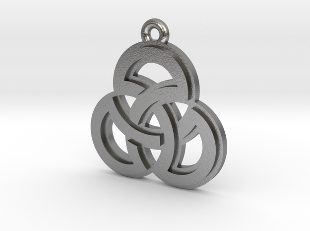 """Sacred Symmetry"" Pendant, Cast Metal in Natural Silver"