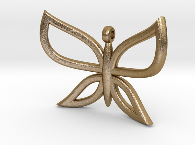 Butterfly 2 in Polished Gold Steel