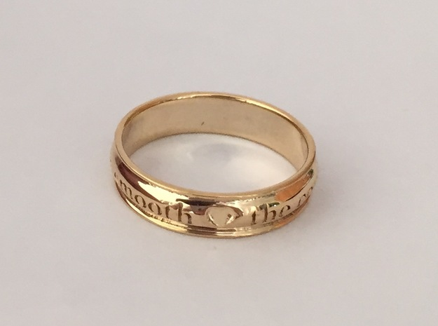 A Midsummer's Night Dream Ring Sz 6 in 18k Gold Plated Brass