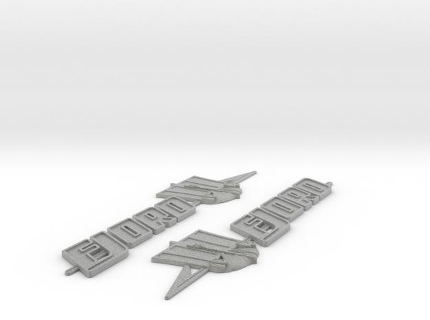 Fjord Boat Badge  in Metallic Plastic
