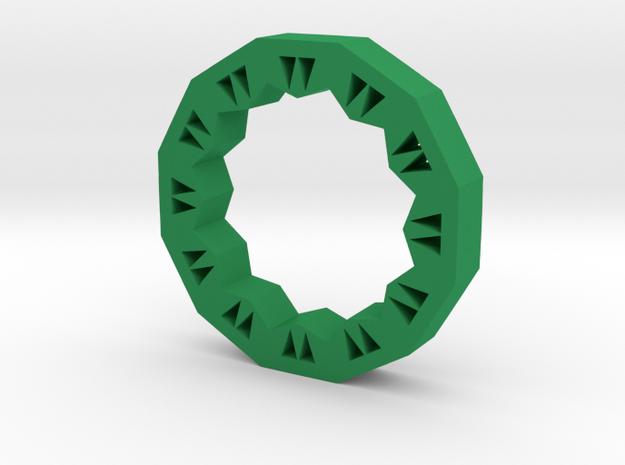Triangles in Green Processed Versatile Plastic