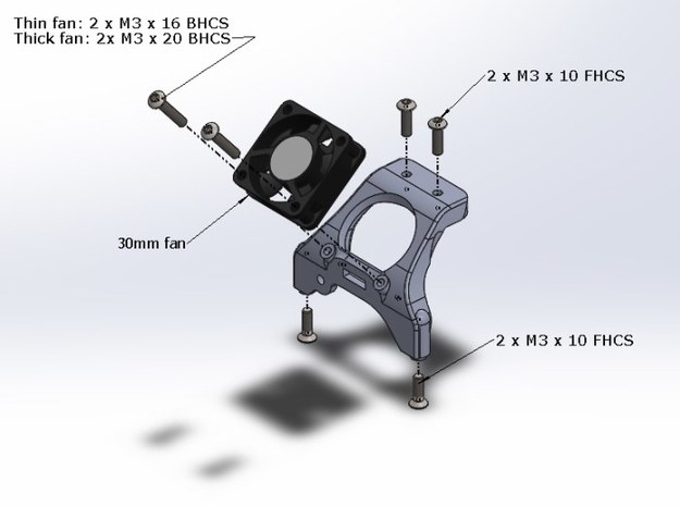B5M / T5M / SC5M Chassis Brace With Fan Mounting