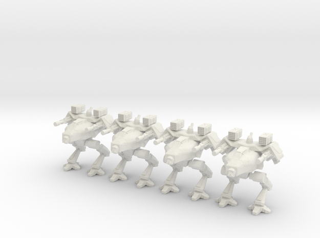 Walker Platoon 10mm  in White Natural Versatile Plastic