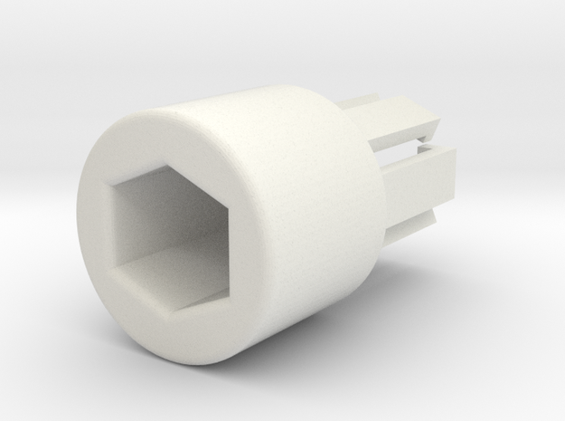 Caravan blind / louver stalk knob/end in White Natural Versatile Plastic