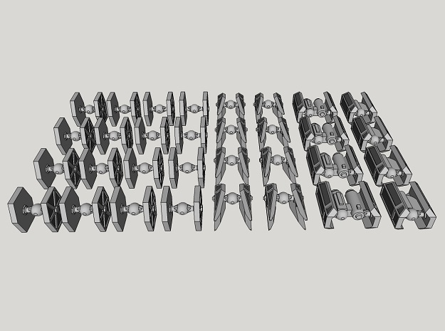 1:1000-scale Imperial Fighter Pack (32 pcs)