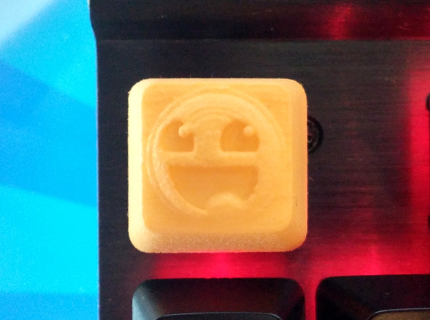 Awesome Face Cherry MX Keycap in Yellow Processed Versatile Plastic