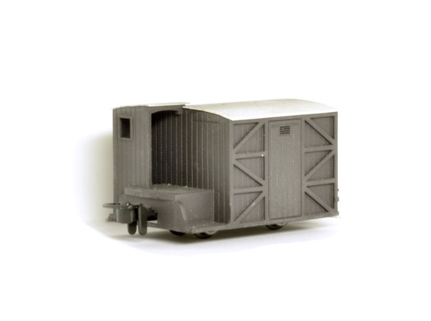 009 FR 'Sentry-box' type brake van in Smooth Fine Detail Plastic