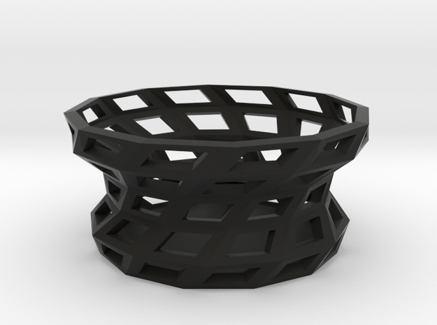 Twisted shapes bowl in Black Natural Versatile Plastic