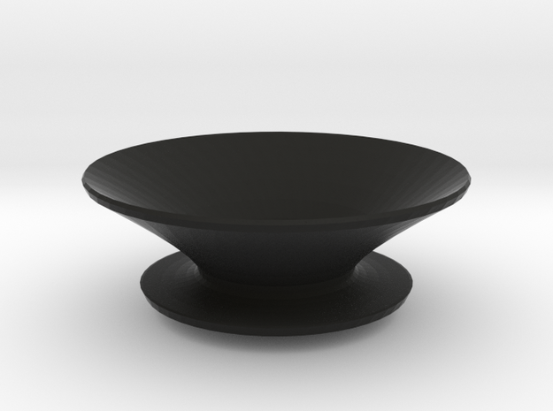 Round fruit bowl in Black Natural Versatile Plastic