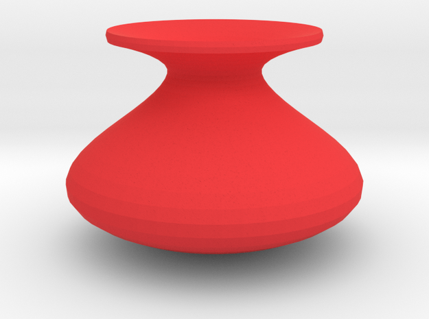 Standard shape vase in Red Processed Versatile Plastic