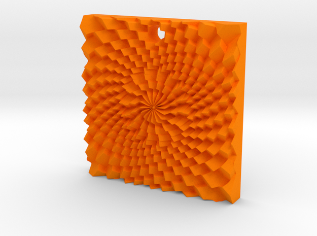 Holes spiral in Orange Processed Versatile Plastic