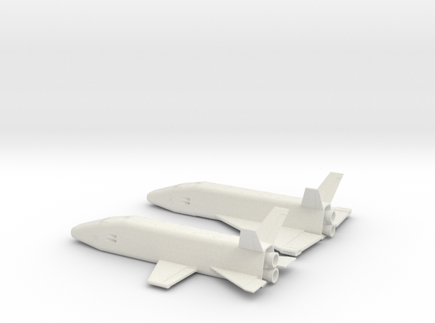 1/400 MCCALL EARLY SPACE SHUTTLE CONCEPTS in White Natural Versatile Plastic