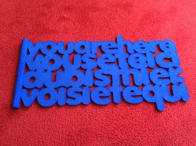 'You are here' bookmark - know where you are! in Blue Processed Versatile Plastic
