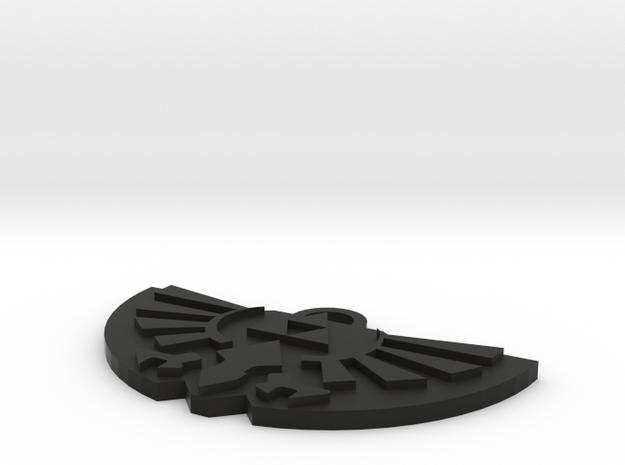 Zelda Logo Pendant in Black Strong & Flexible