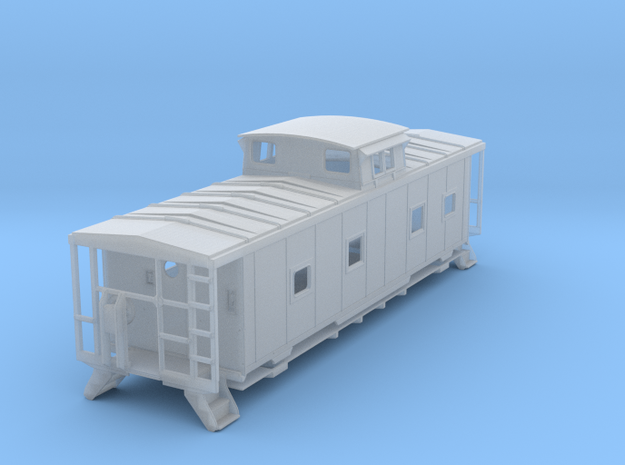 ACL M5 Caboose, split window, no roof walks - TT in Smooth Fine Detail Plastic