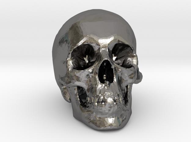 Skull Desk Ornament in Polished Nickel Steel