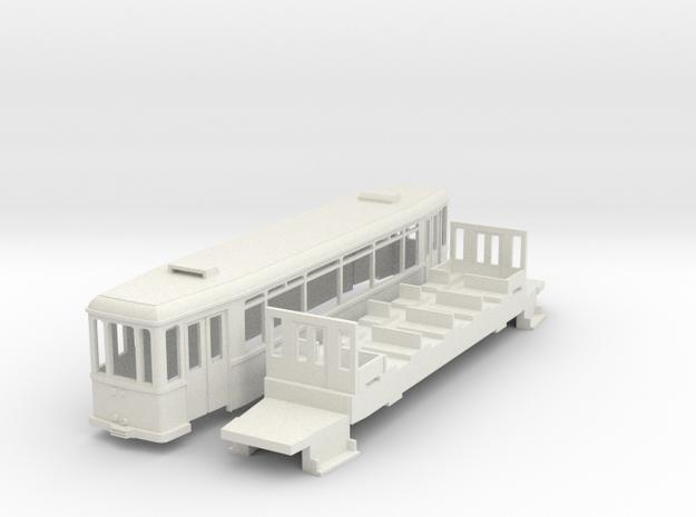 MÜBAG Vierachser Beiwagen  in White Natural Versatile Plastic