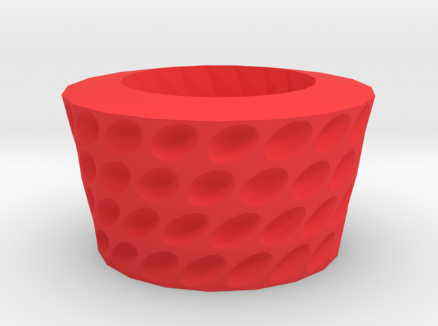 Ovals pattern bowl in Red Processed Versatile Plastic