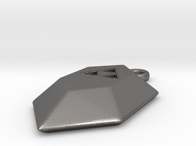 Triforce Rupee2 in Polished Nickel Steel