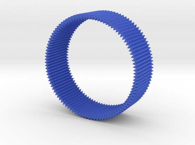 Zig zag bangle in Blue Processed Versatile Plastic