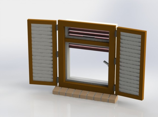 Shutters Set 01 open 3d printed
