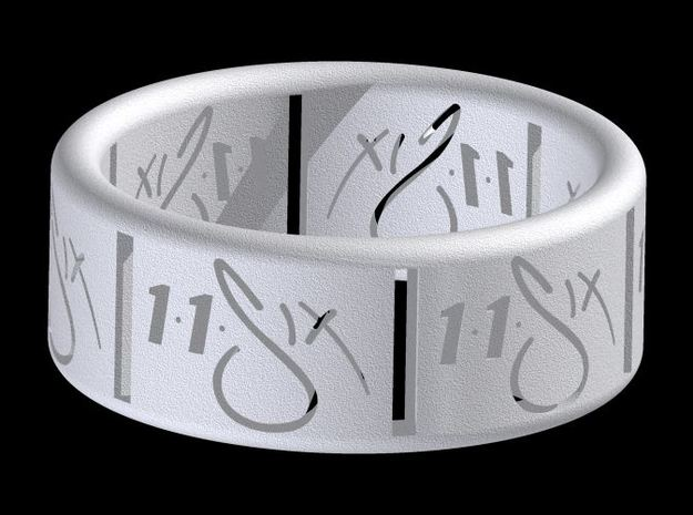 11Six ring (size 10) in White Strong & Flexible
