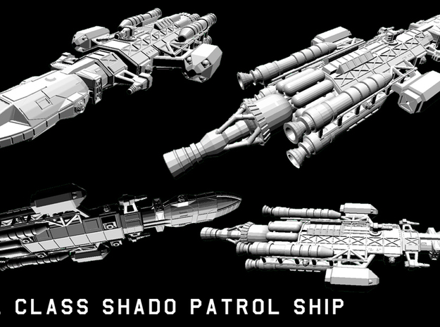 Owl SHADO patrol ship 3d printed