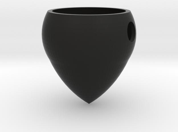 Rad-ish Air Plant Pendant in Black Natural Versatile Plastic