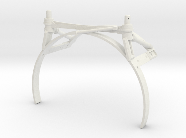 3d Strut Shuttle Rear Temp Test in White Natural Versatile Plastic