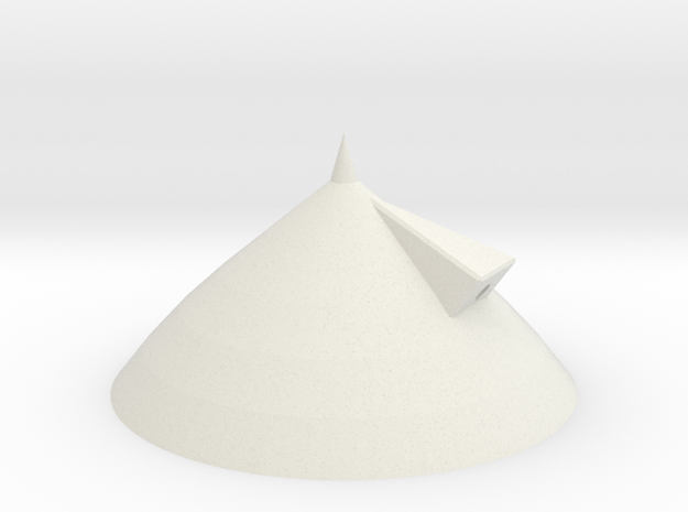3d Shuttle Tank Nose Cone in White Natural Versatile Plastic