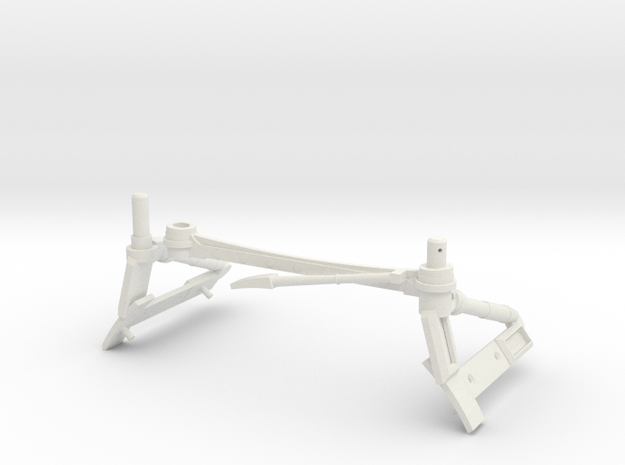 3d Strut Shuttle 2-5 in White Natural Versatile Plastic