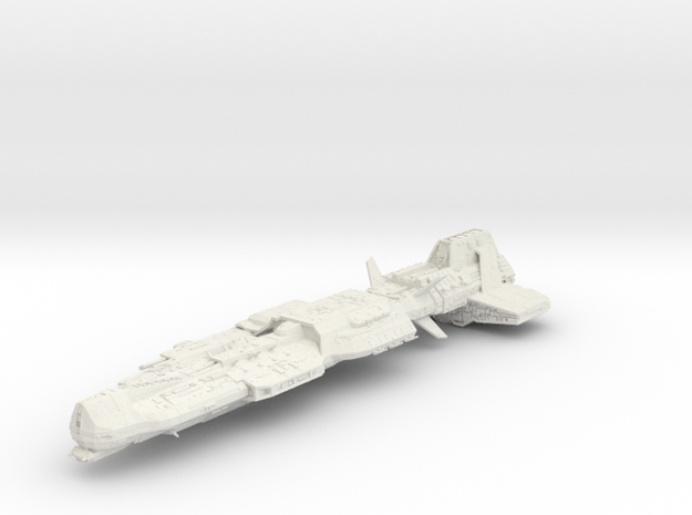 Aurora Ship 21cm in White Strong & Flexible