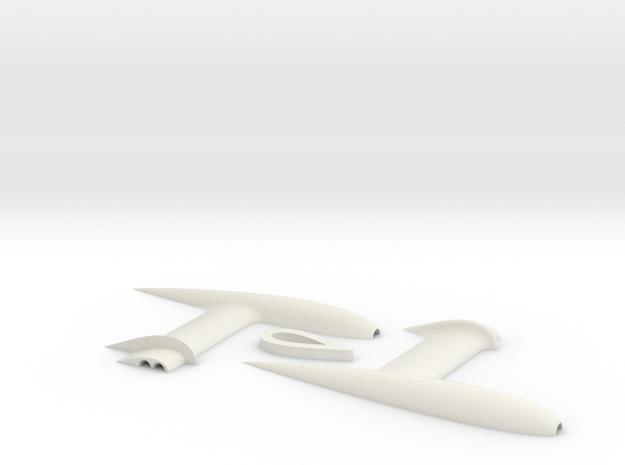 3DR Pixhawk Airspeed Sensor Pitot Tube Mount in White Natural Versatile Plastic