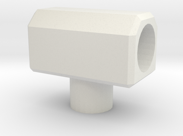 5mm T-Connector in White Natural Versatile Plastic