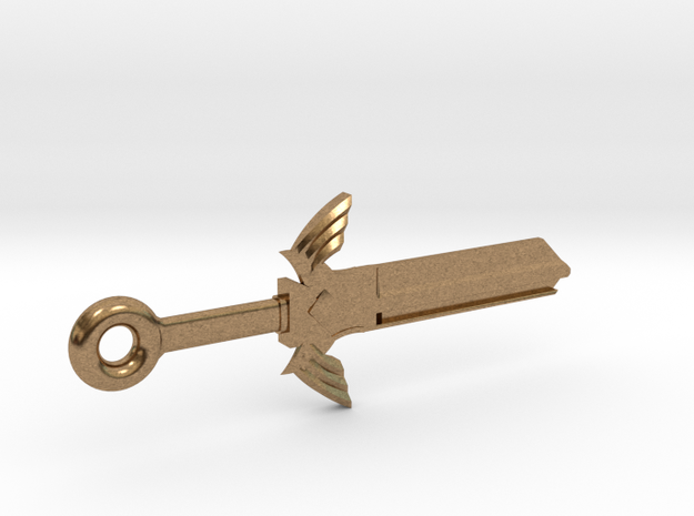 Zelda Master Sword House Key Blank - KW11/97 in Natural Brass