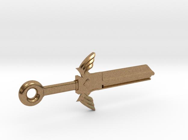 Zelda Master Sword House Key Blank - KW11/97 in Natural Brass