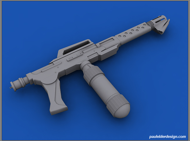 1/10 Scale M240 Flamethrower in Smooth Fine Detail Plastic