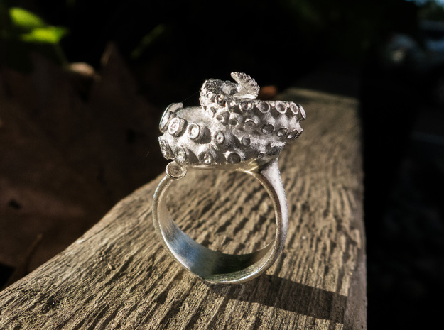 Octopus Ring  in Natural Silver: 7 / 54